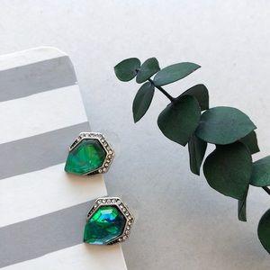 New Opal Iridescent Stud Earrings